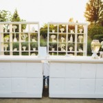 Romantic modern bar set up for outdoor wedding