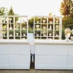 Romantic modern bar set up for outdoor wedding