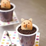 Groundhog's Day pudding cups