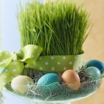 Easter centerpiece with weath grass