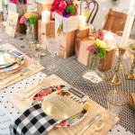 Eclectic Wood inspired table setting