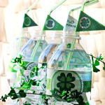 Free St Patricks day straw flags