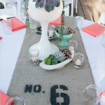 modern eclectic tablescape