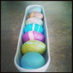 Rubber band marblezied Easter Eggs