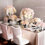 Luxurious soft pink coco inspired tablescape