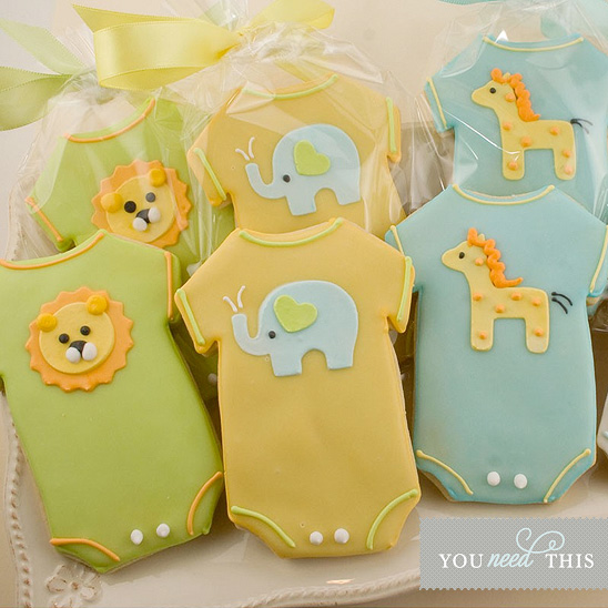 baby-shower- onesie cookies