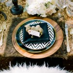Rustic glamorous place setting