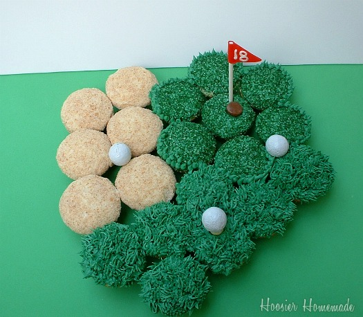 Golf course cupcakes