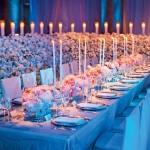 Gorgeousness. Elegant modern wedding tablescape