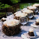 Spring nest tablescape
