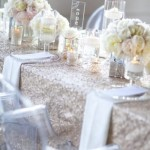 beautiful sparkly modern tablescape