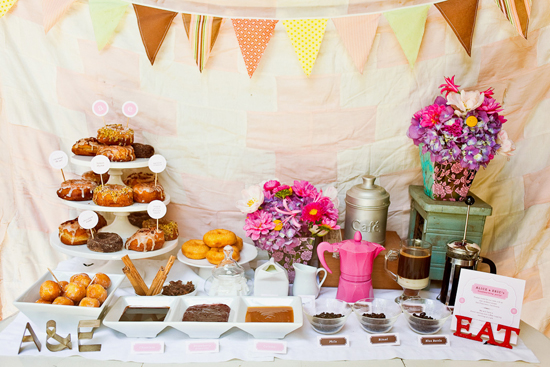 donut dunking station for Mothers Day brunch