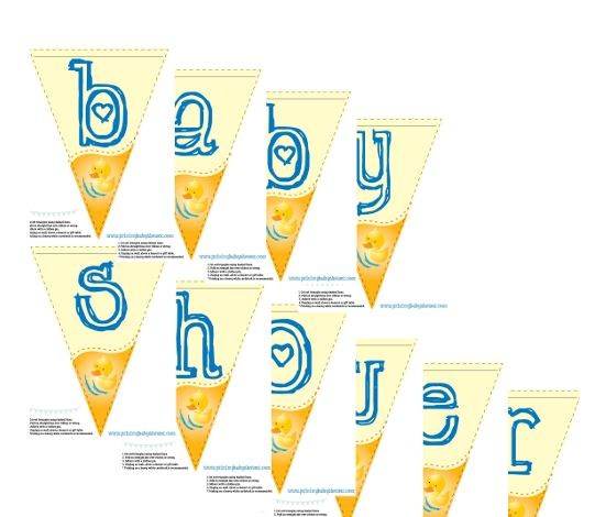 ducky baby shower banner