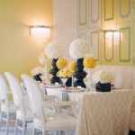 Gorgeous modern yellow and white table