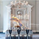 lovely blue and grey ombre tablescape
