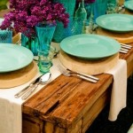 Lovely Purple and Teal Tablescape