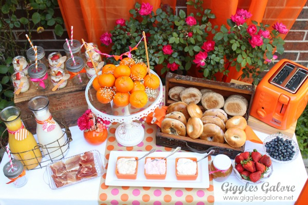 Mothers Day Brunch Bagel Bar Party