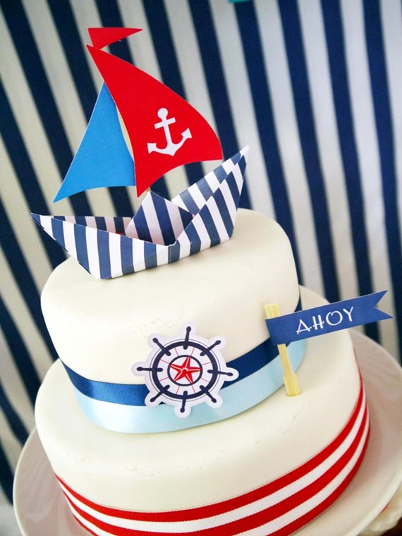 preppy nautical boys party