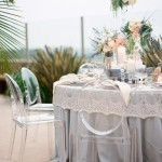 romantic and rustic seaside tablescape