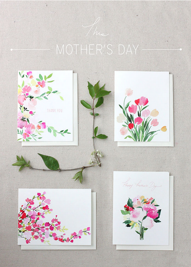 set of 4 free mother's day printables