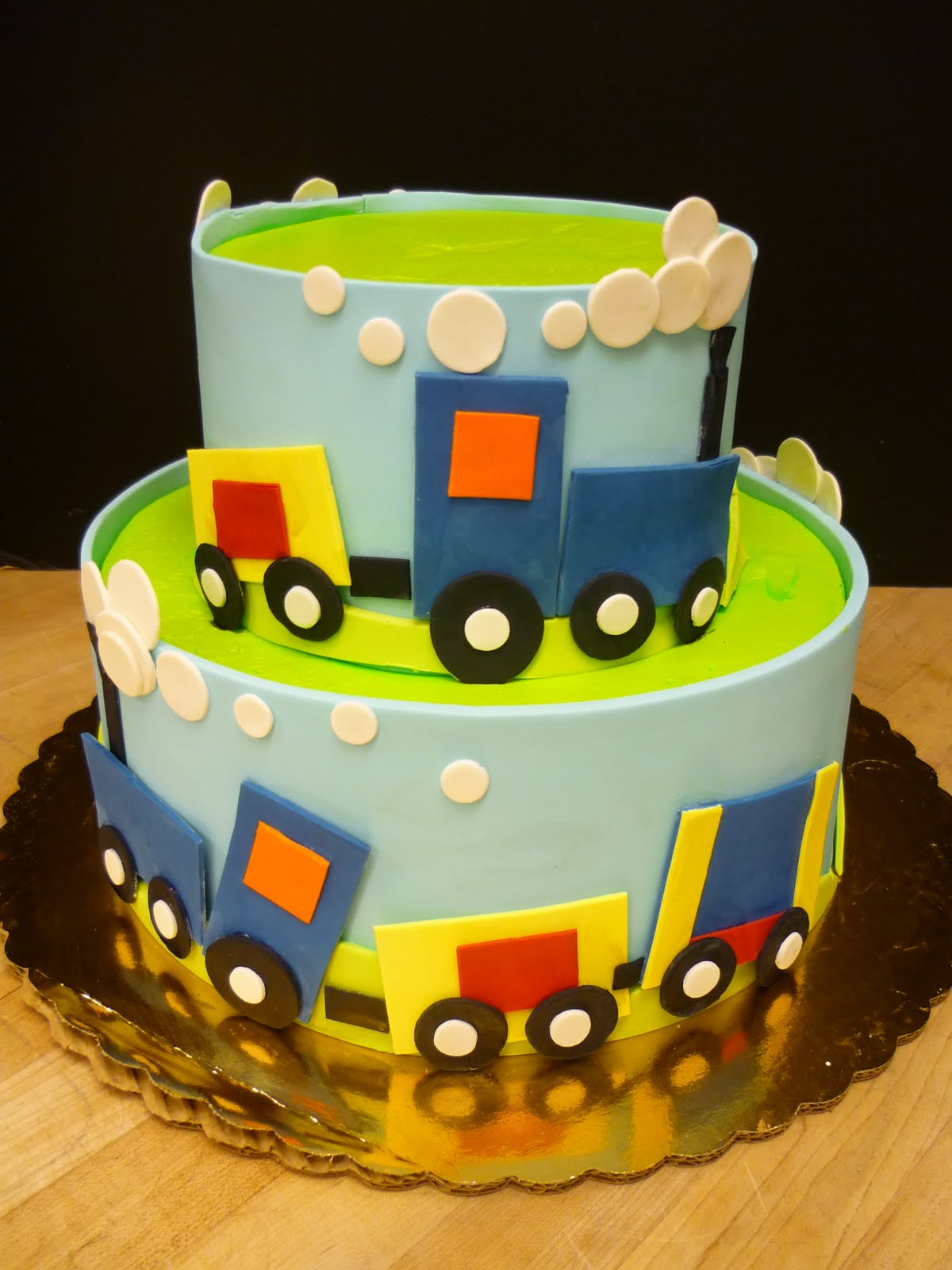 train themed cake boys birthday cake children kid - B ...