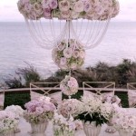 Elegant Vintage tablescape with abundant roses