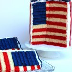 Huge DIY Stars and stripes american flag cake for the 4th!
