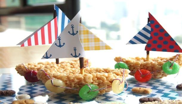 Sailboat Rice Crispy Treats!