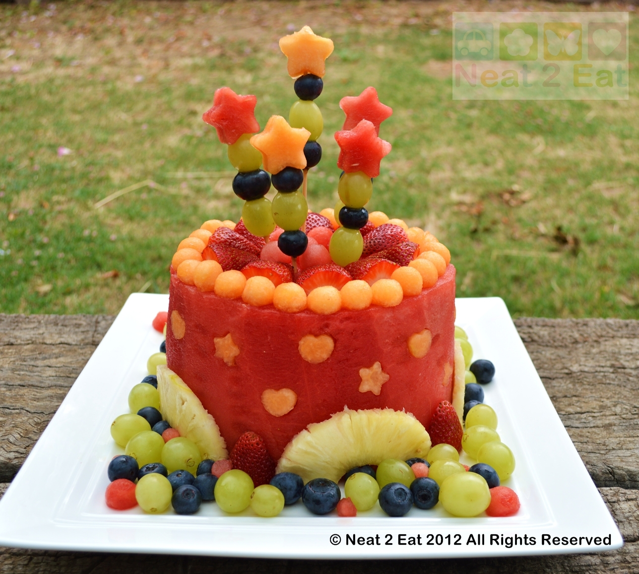 Watermelon fruit cake for summer bbq - B. Lovely Events