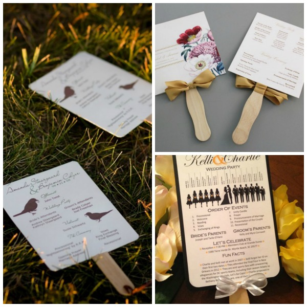 A Round Up Of Free Wedding Fan Programs B Lovely Events