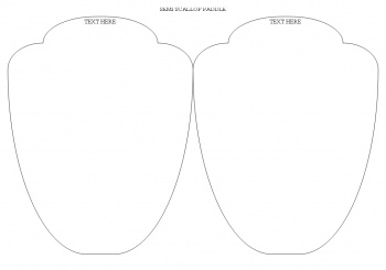 free wedding fan programs  and free wedding fan templates in 4 different shapes (2)