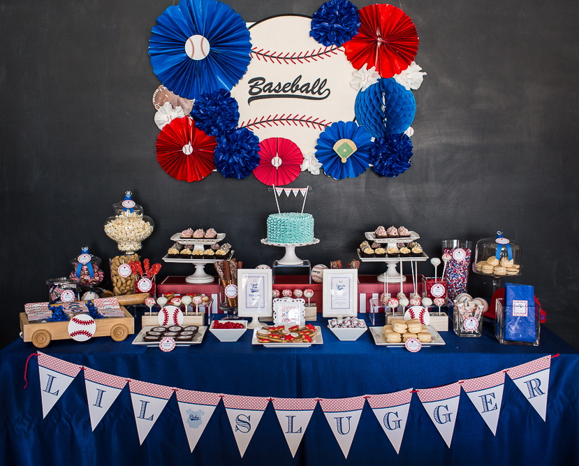Lovely baseball baby shower