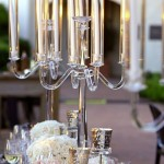 lovely crystal centerpiece for this gorgeous tablescape