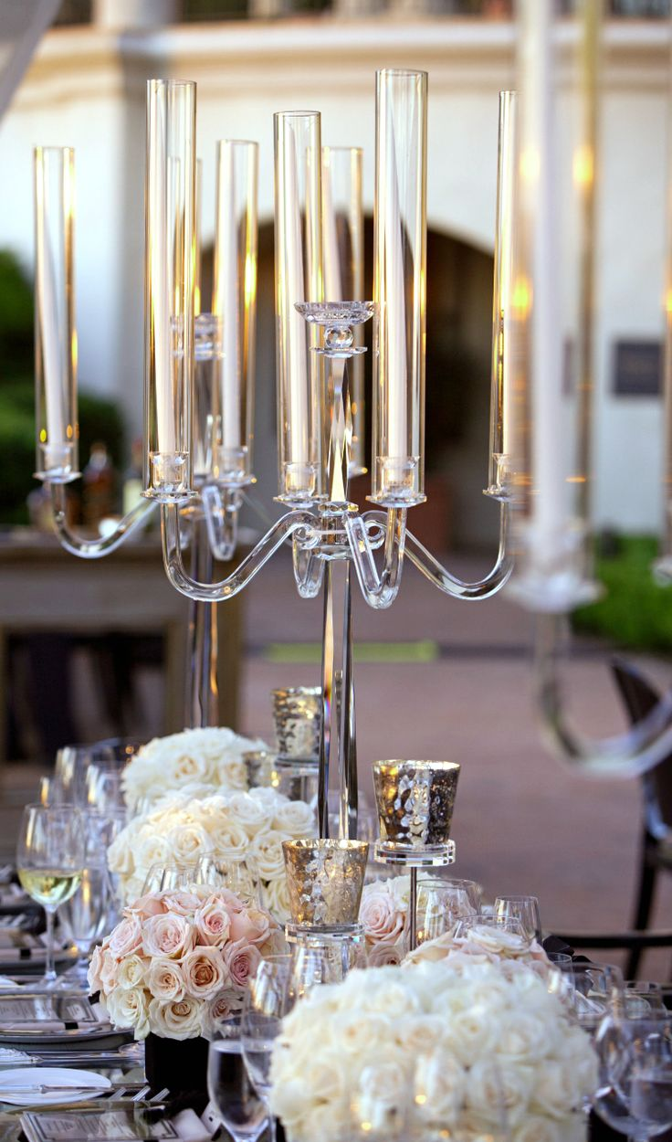 Beautiful Crystal Candelabra Centerpiece B Lovely Events