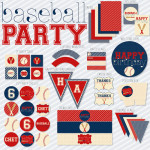 Seriously Baseball Party Printable Set