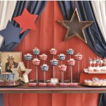 Vintage star studded dessert table