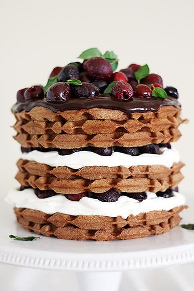 Black Cherry Waffle Cakes