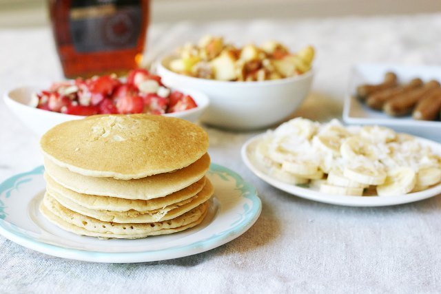Build your own pancake bar for brunch