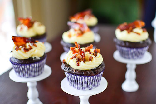 Chocolate Beer Bacon Alcohol Infused Cupcakes