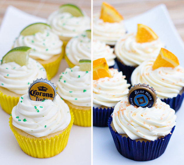 Corona and Blue Moon Alcohol Infused Cupcakes!