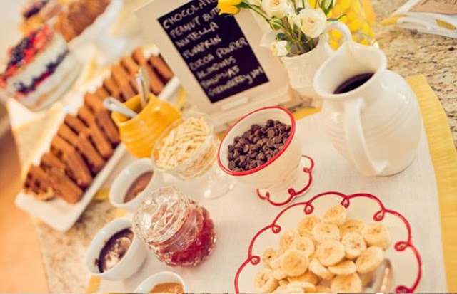 Cute waffle bar baby shower!