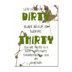 Dirty Thirty Boys Birthday Invite