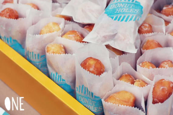 Doughnut Holes in tiny bags for brunch