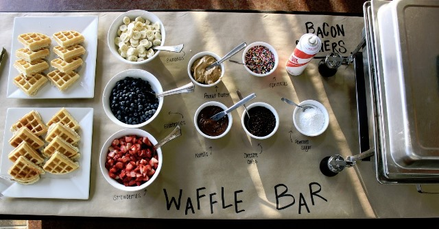 Love this crate paper for this waffle bar