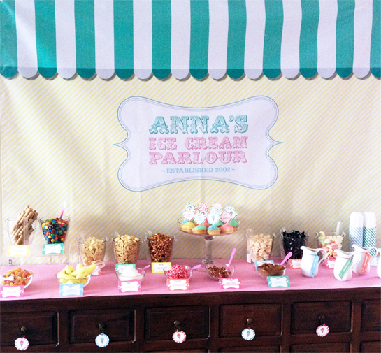 Love this ice cream parlour for an ice cream party