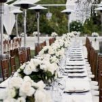Ourdoor Natural White and Brown Luxe Wedding Tablescape