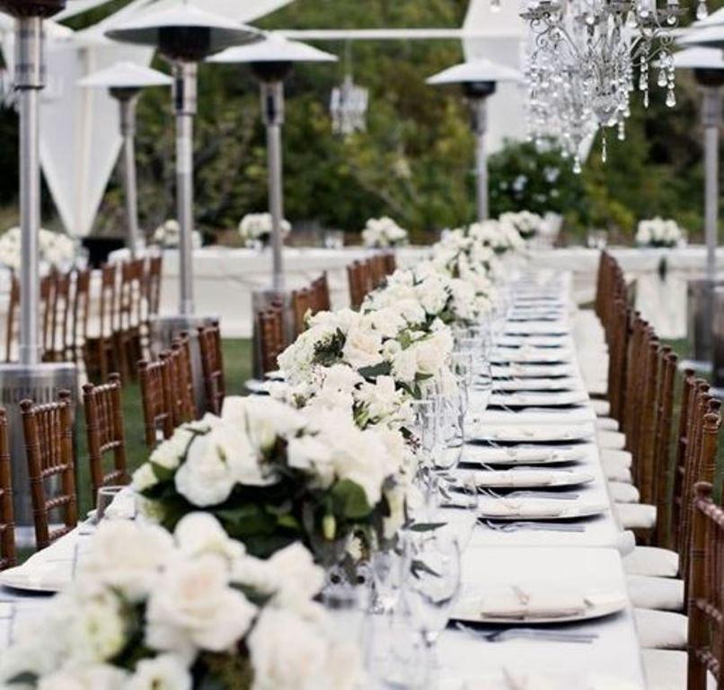 Elegant birthday table decorations - Beautiful Outdoor Elegant White Wedding