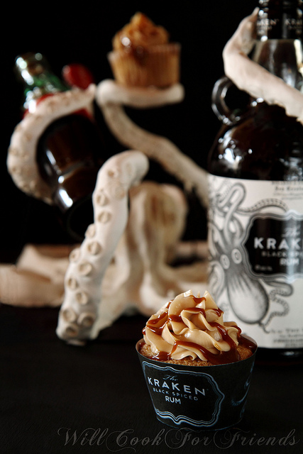 Rum and Coke Cupcakes with Kraken Rum-These are magnificient!