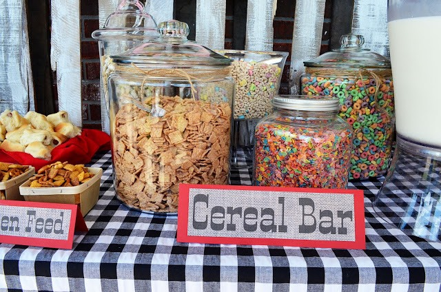 Rustic Cowboy Cereal Bar