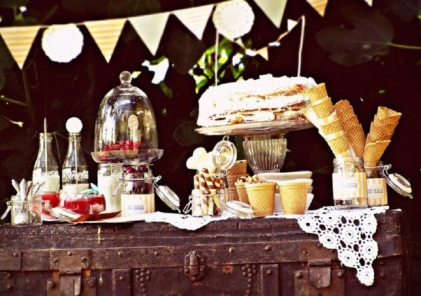 Vintage Chic Ice Cream party